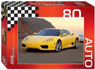 Puzzle 80 Auto Collection - Ferrari Yellow
