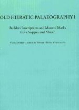 Old Hieratic Palaeography I.