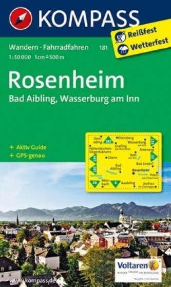 Kompass Karte Rosenheim, Bad Aibling, Wasserburg am Inn