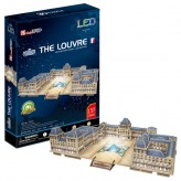 3D Puzzle  The Louvre /LED 137 dílků