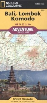 National Geographic Adventure Travel Map Bali, Lombok, Komodo