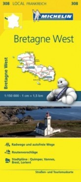 Michelin Karte Bretagne West