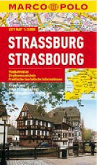 Strassburg/Strasbourg - City Map 1:15000